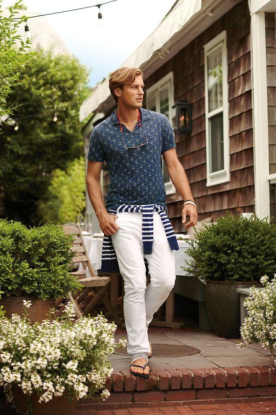 anchor print shirt for nautical fashion