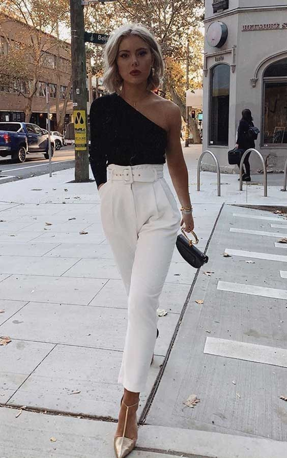 minimalist chic style with asymmetrical tops