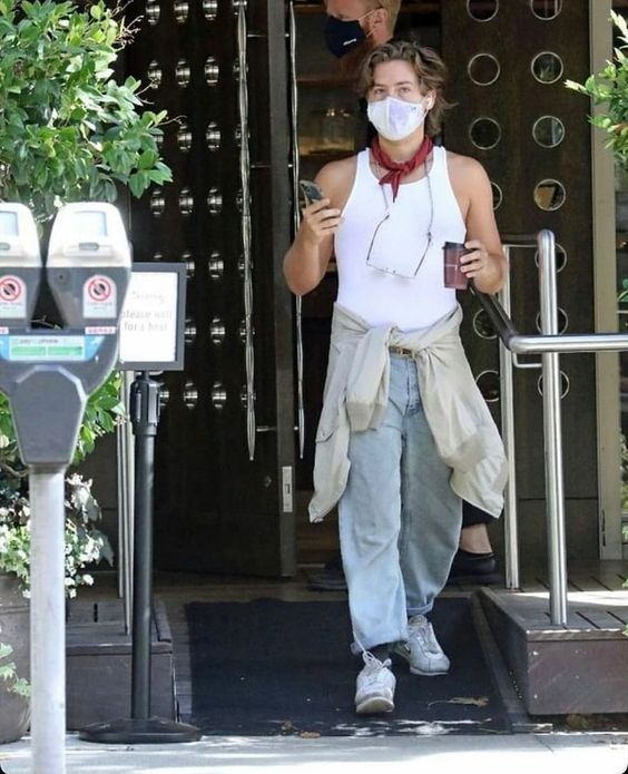 Cole Sprouse athleisure fashion look