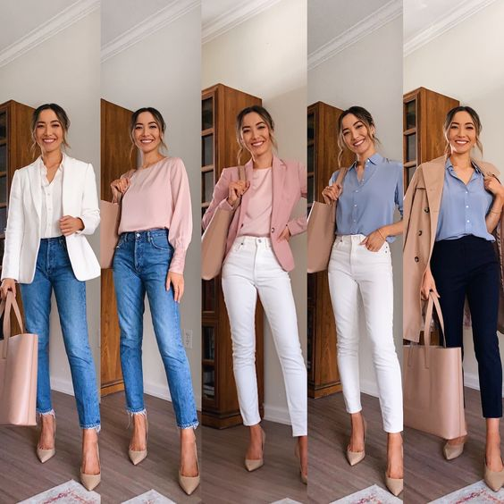business casual jeans ideas