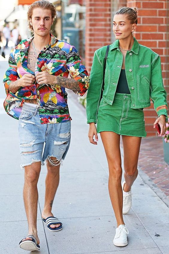 floral shirt Justin Bieber street style