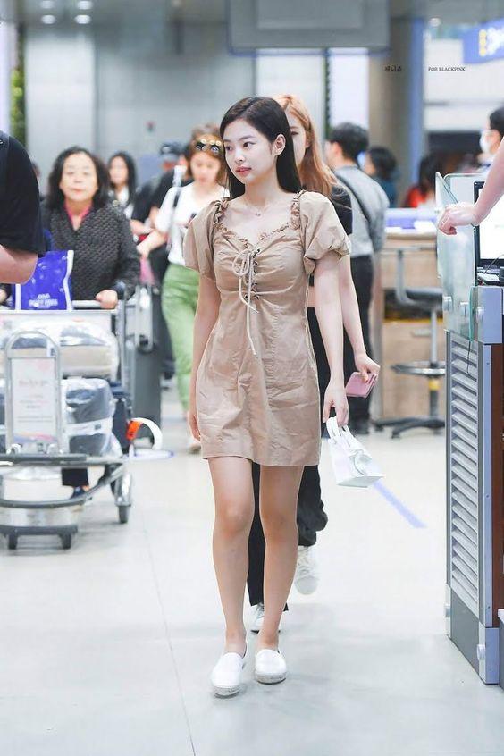 Jennie in cute mini dress