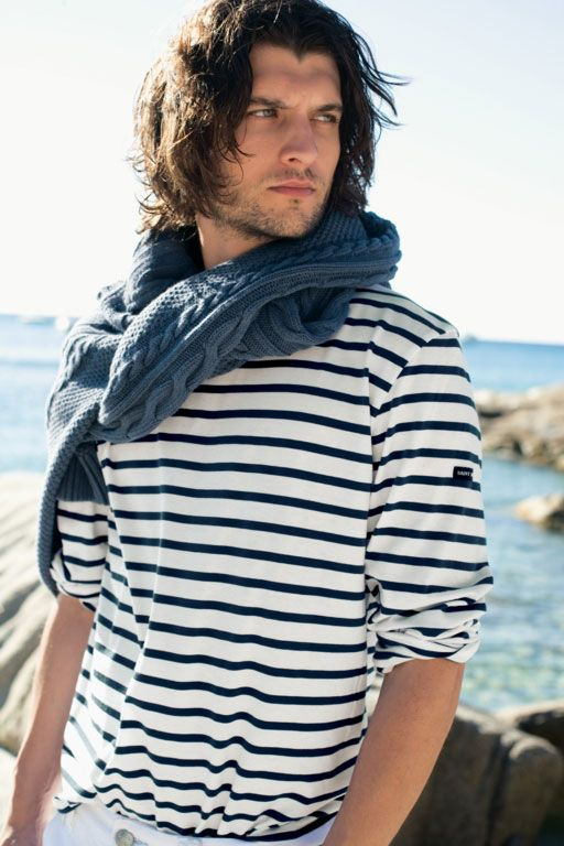 striped Breton shirt nautical look idea