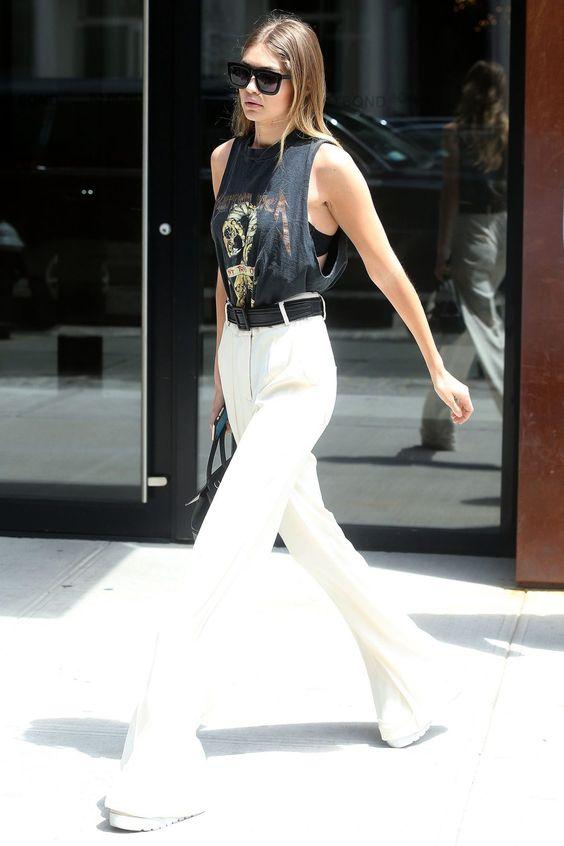 classy Gigi Hadid summer outfit