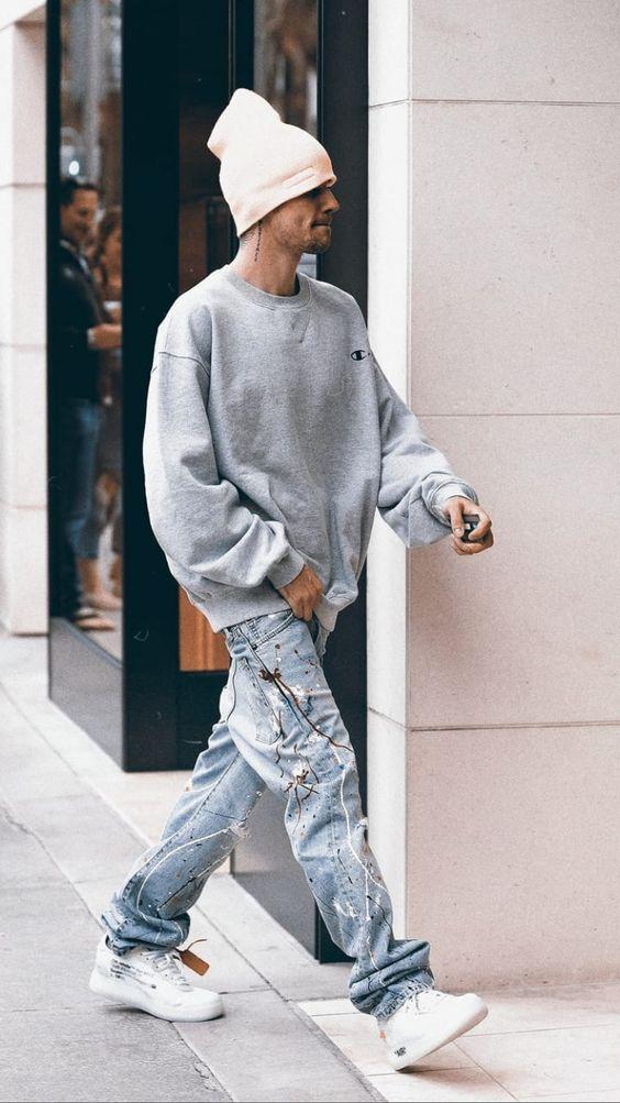 styling sweatshirt Justin Bieber essential