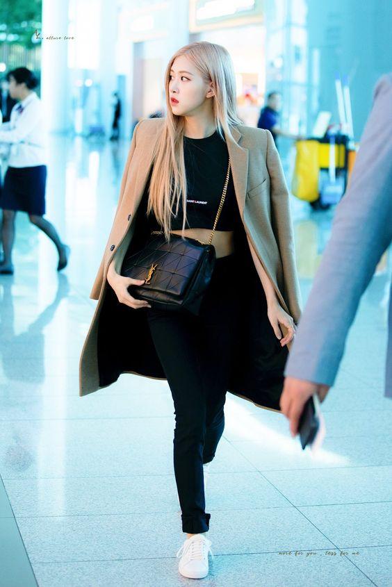 Rose Blackpink chic minimalist aesthetic fashion look