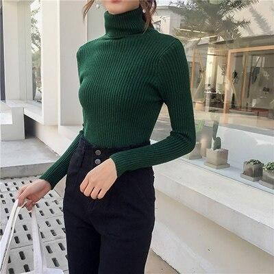 turtle neck pullover sweater office workwear ideas