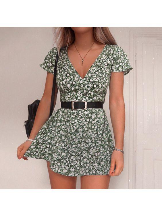 belted-waist mini dress for summer