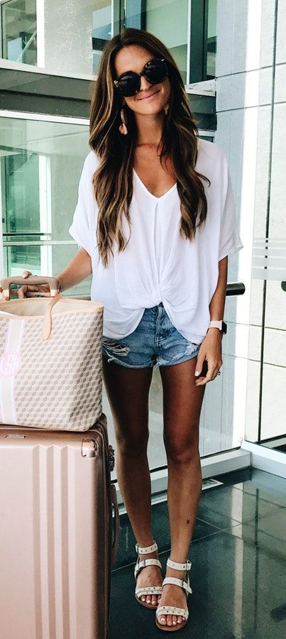 comfortable and trendy summer airport ideas