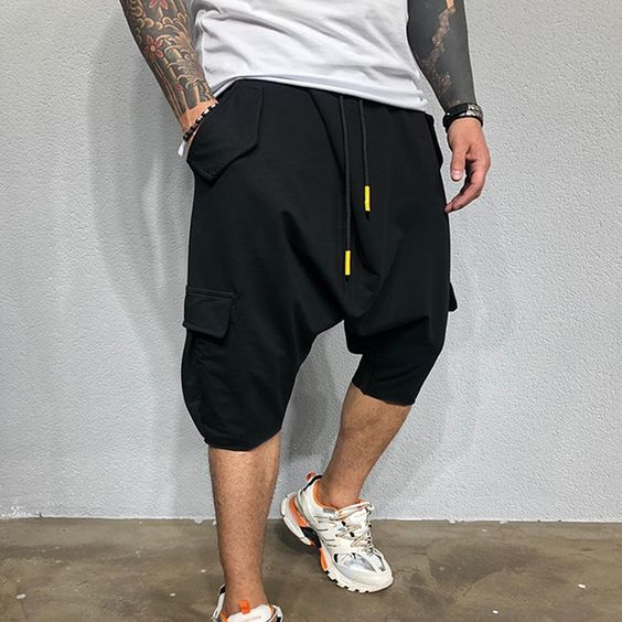 cotton punk jogger shorts summer outfit trend