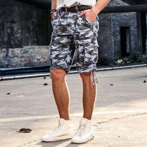 military camo shorts
