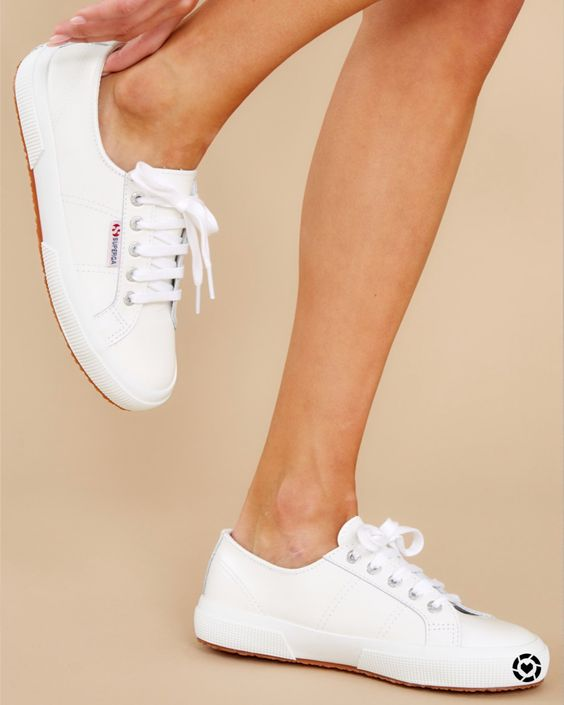 white sneakers for summer essential