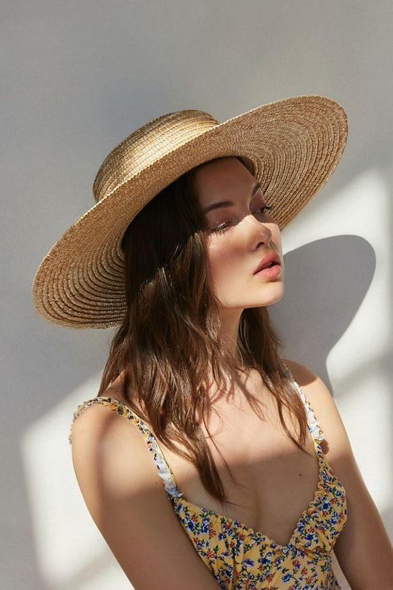 straw hat for summer essentials