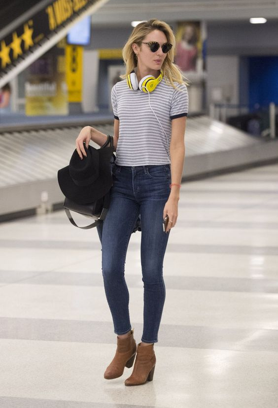 simple and trendy summer airport outfits