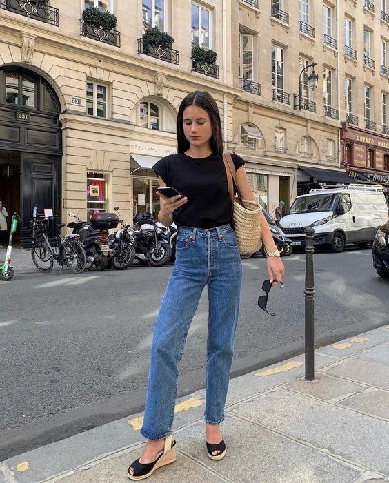 styling Parisian denim jeans