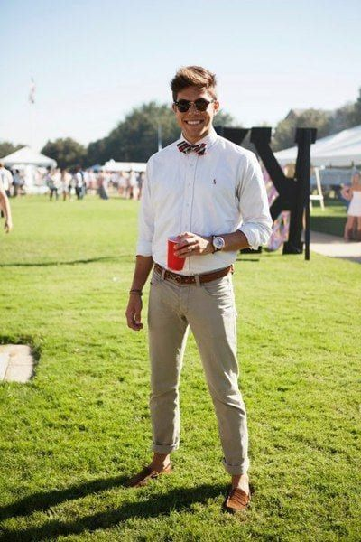casual summer guest outfits with bow-tie