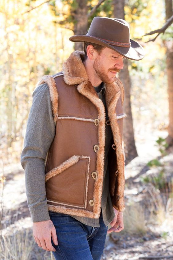 camp outfit idea with vest