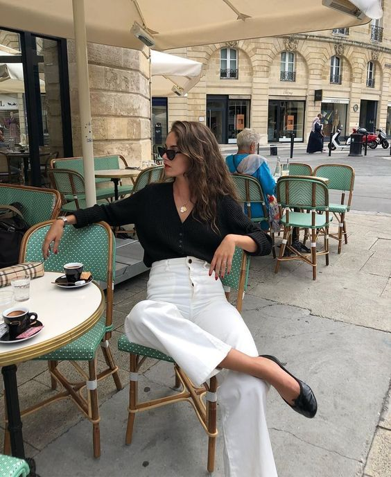 classic minimalist French street style look