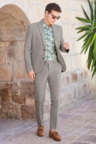 floral shirt for wedding guest look for men