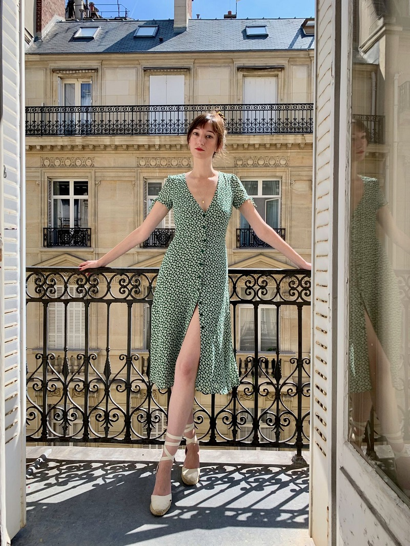 French fashion style with beautiful Parisian summer dresses