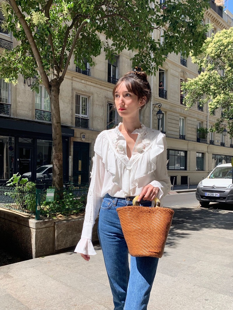French girl summer fashion look