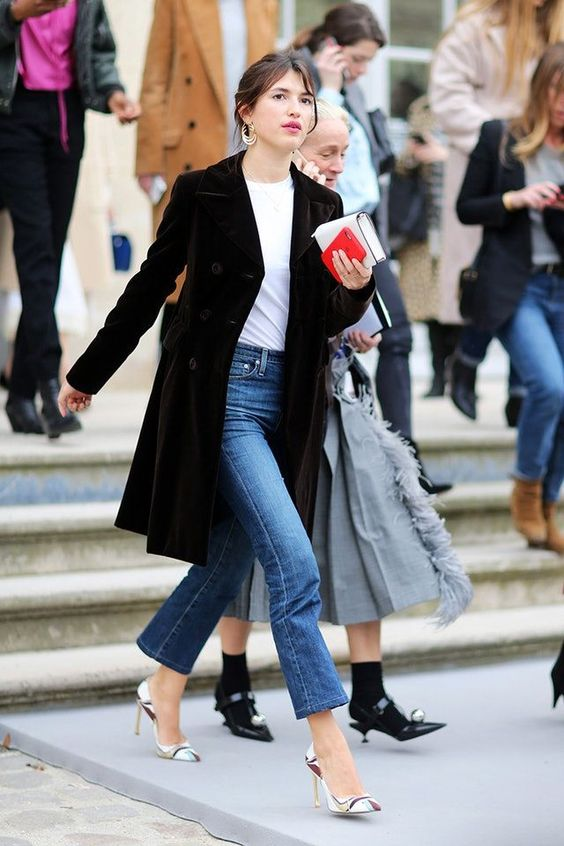 Styling flare jeans French girl style