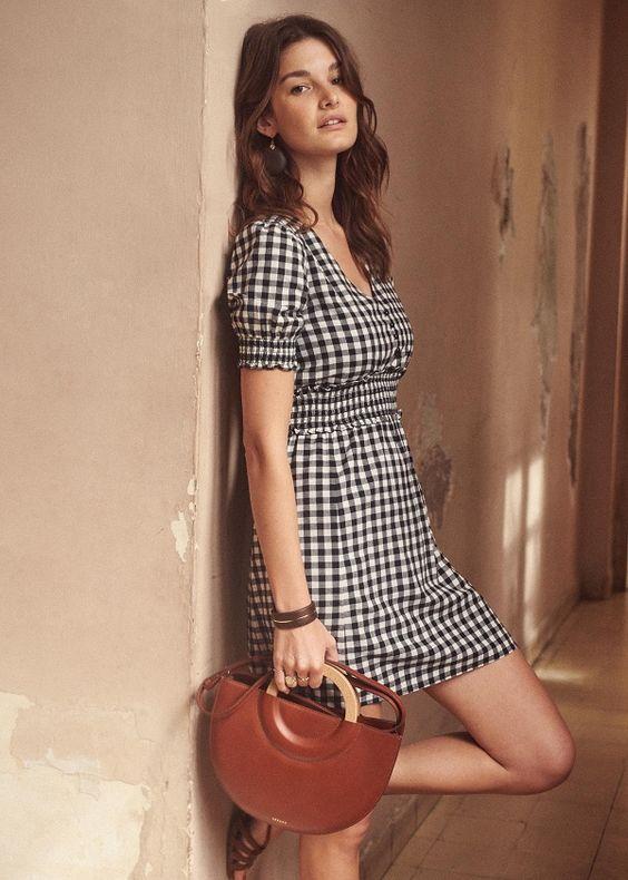 cute Parisian gingham dress style