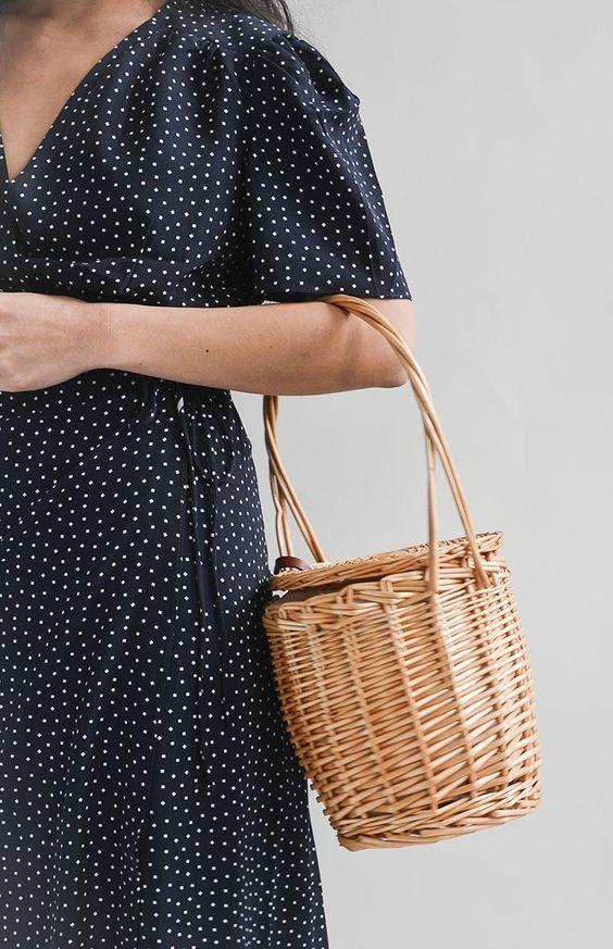 Jane birkin straw bag French summer fashion style