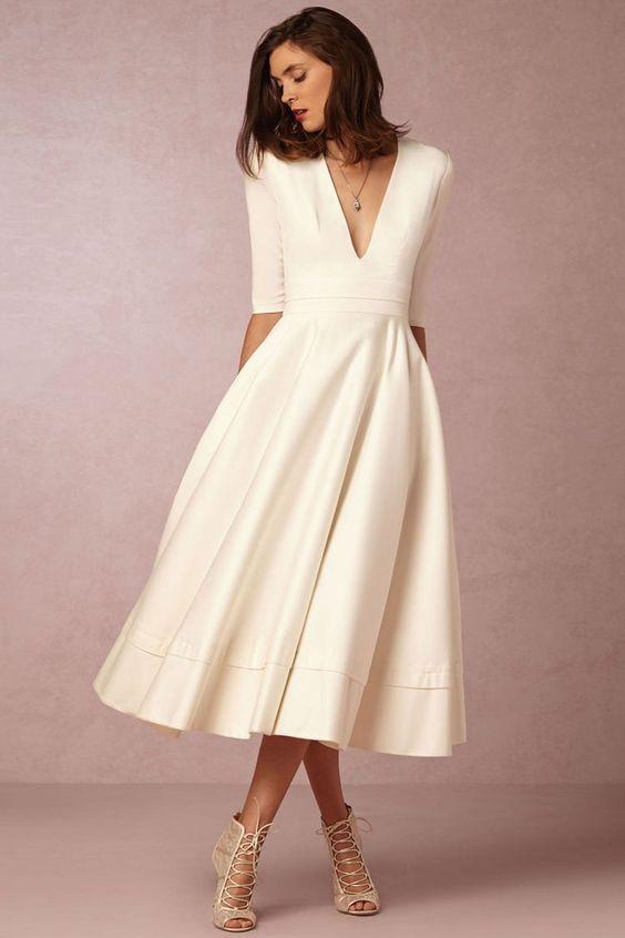 casual beach guest wedding dress idea
