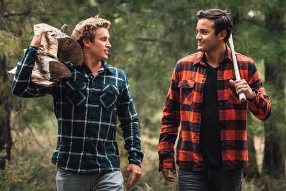 plaid shirt for a trendy summer camp look