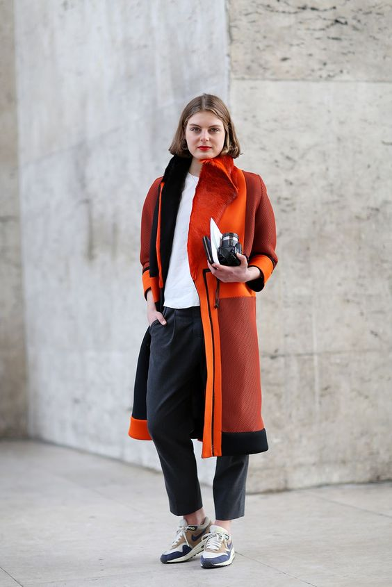 The statement piece French outfit idea