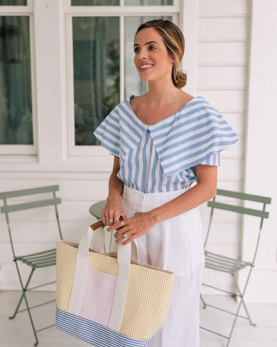 striped shirt for summer look