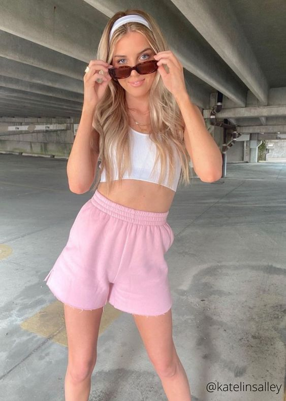 lovely summer shorts for young lady