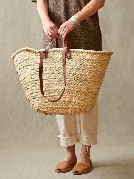 palm leaf straw bag summer essential
