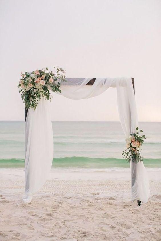 simple beach wedding arch ideas
