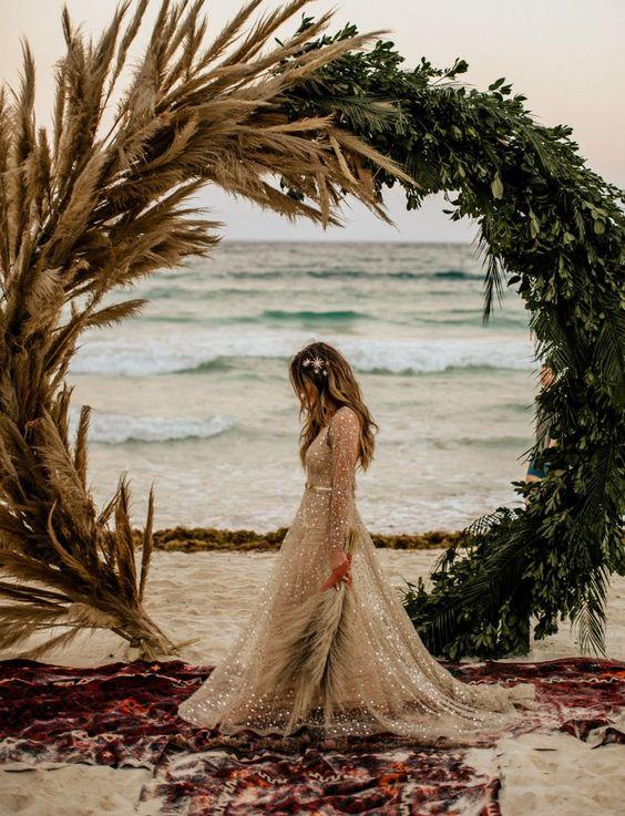 boho coastal wedding decor idea