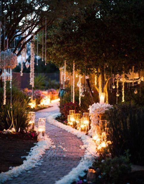 decorate garden path for wedding