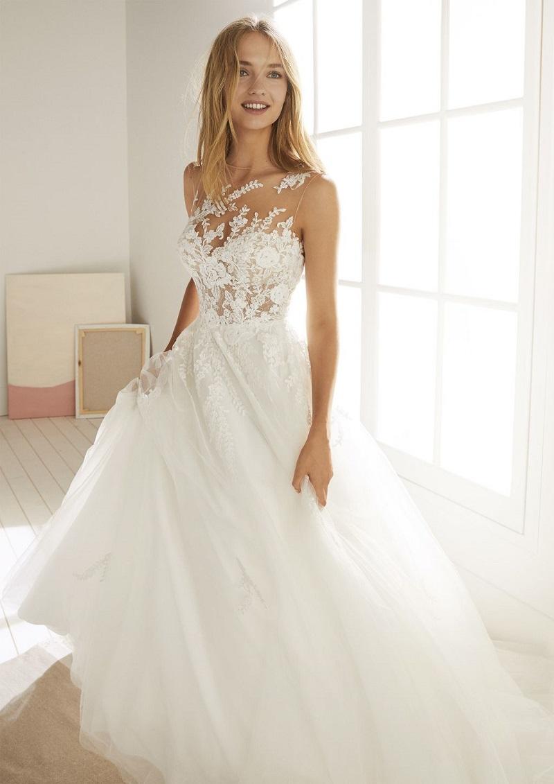 whimsical garden wedding dresses