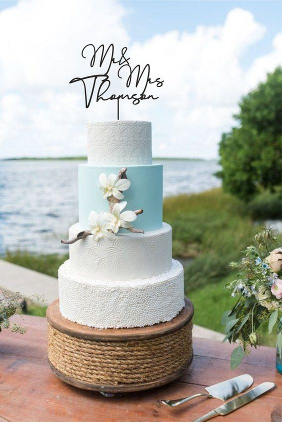 Mr. and Mrs. cake topper style