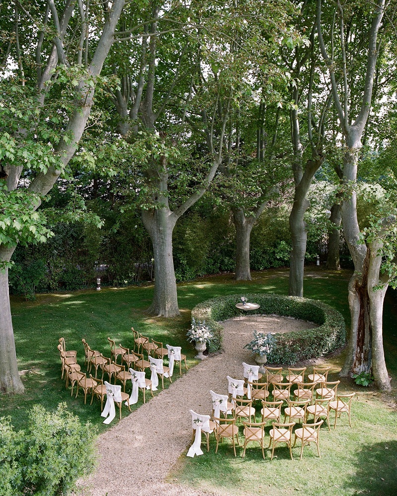 elegant private garden wedding idea