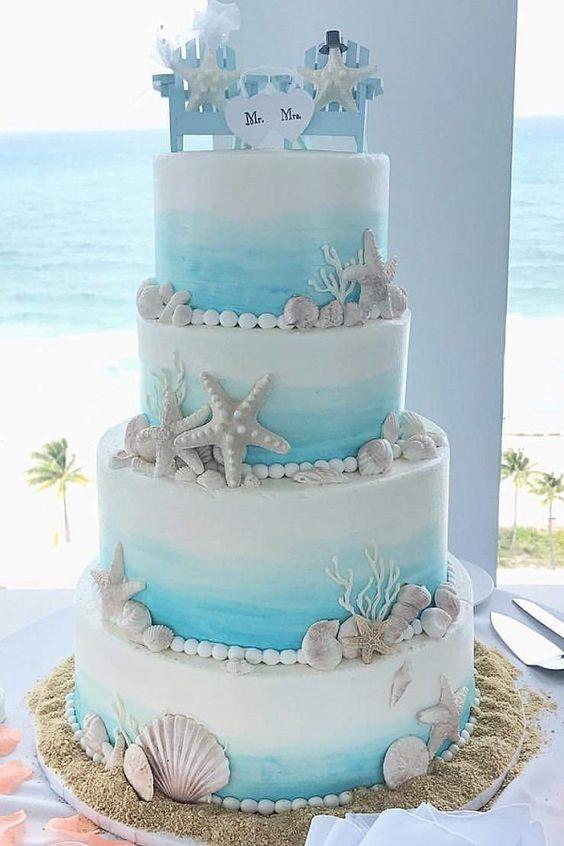 summer wedding cake style