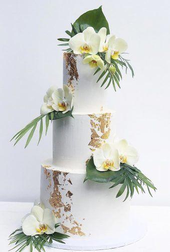 tropical bridal cake idea