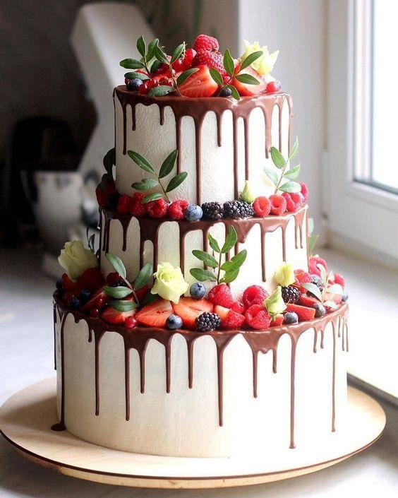 fruity tropical wedding cake ideas