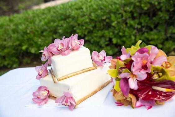 bridal cake wedding garden theme style
